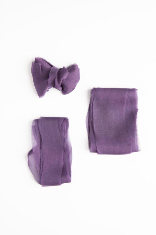jedwabna wstazka fioletowa